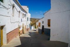 Arquitetura da cidade em Colomera na Espanha fotografia de stock