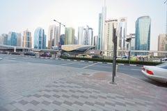 Arquitetura da cidade em Dubai, U A e fotografia de stock royalty free