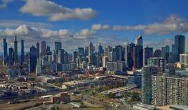 Arquitetura da cidade em Melbourne, Austrália Fotos de Stock Royalty Free