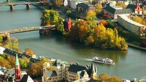 Arquitetura da cidade Francoforte Alemanha filme