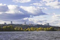 Arquitetura da cidade histórica cênico do centro de Kyiv Vista geral imagens de stock