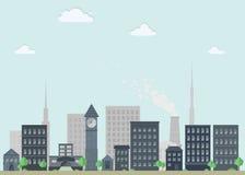Arquitetura da cidade lisa agradável Imagens de Stock Royalty Free