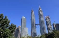 Arquitetura da cidade Malásia de Kuala Lumpur Fotografia de Stock