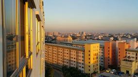 Arquitetura da cidade na manhã Imagens de Stock