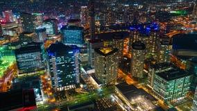 Arquitetura da cidade na noite, Jap?o de Yokohama vídeos de arquivo