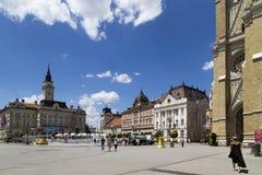 Arquitetura da cidade no novi triste, Sérvia Fotos de Stock Royalty Free