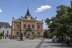 Arquitetura da cidade no novi triste, Sérvia imagem de stock royalty free