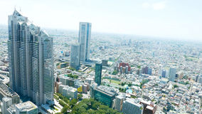 Arquitetura da cidade no Tóquio Shinjuku de Japão Fotografia de Stock Royalty Free