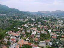 Arquitetura da cidade panorâmico da barra, Montenegro Fotos de Stock Royalty Free