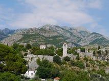 Arquitetura da cidade panorâmico da barra, Montenegro Imagens de Stock