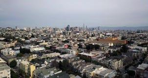Arquitetura da cidade panorâmico de San Francisco nos EUA video estoque