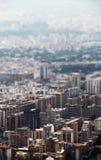 Arquitetura da cidade, profundidade de campo pequena Foto de Stock Royalty Free