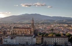 Arquitetura da cidade Santa Croce, Florença, Firenze, Toscânia, Itália Fotos de Stock