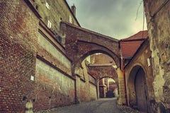 Arquitetura da cidade, Sibiu, Romênia Foto de Stock Royalty Free