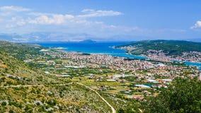 A arquitetura da cidade Trogir, Cro?cia fotografia de stock royalty free