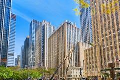 Arquitetura da cidade urbana de New York Distrito do Midtown EUA Fotos de Stock Royalty Free