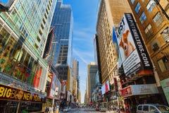 Arquitetura da cidade urbana de New York Distrito do Midtown EUA Fotos de Stock