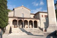 Arquitetura da cidade velha do centro de cidade de San Marino Fotografia de Stock