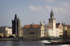 Arquitetura da cidade velha em Praga Foto de Stock