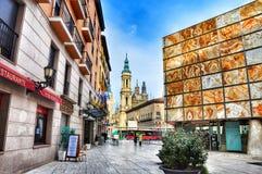 Arquitetura da cidade Zaragosa Foto de Stock Royalty Free