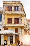 Arquitetura da estância turística Rethymno, Creta de Grécia Imagem de Stock Royalty Free
