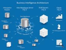 Arquitetura da inteligência empresarial Fotos de Stock Royalty Free