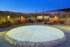 Arquitetura da vila africana pequena no deserto Fotografia de Stock Royalty Free
