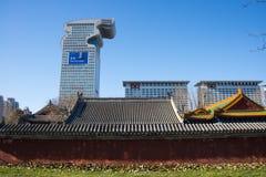 Arquitetura de ŒClassical do ¼ de China e de Ásia, de Pequim, de Bei Ding Niangniang Templeï e arquitetura moderna fotos de stock