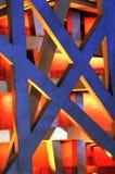 Arquitetura de aço do edifício moderno Fotos de Stock Royalty Free