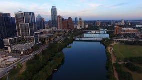 Arquitetura de Austin Texas Downtown City Skyline Urban panorâmico filme