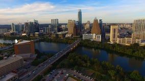 Arquitetura de Austin Texas Downtown City Skyline Urban panorâmico video estoque