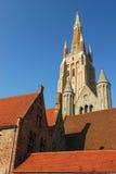 Arquitetura de Buges - a igreja de nossa torre da senhora Fotografia de Stock Royalty Free