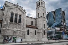 Arquitetura de contraste Fotos de Stock Royalty Free