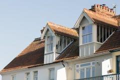 Arquitetura de duas águas da janela de trapeira Foto de Stock Royalty Free
