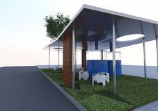 Arquitetura de Eco Ilustração Stock