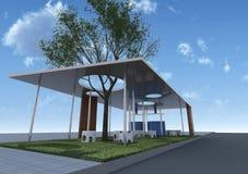 Arquitetura de Eco com céu azul Ilustração do Vetor