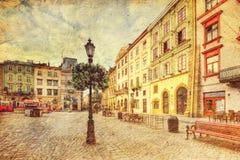 Arquitetura de Lvov ucrânia Fotografia de Stock