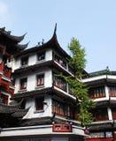 Arquitetura de madeira tradicional de China Foto de Stock Royalty Free