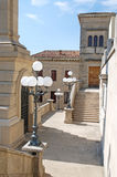 Arquitetura de Medieaval de San Marino, Italy Foto de Stock Royalty Free