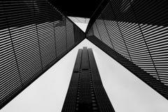 Arquitetura de Melbourne CBD em preto e branco Fotografia de Stock Royalty Free