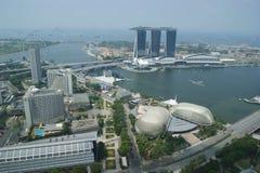 Arquitetura de negócio do centro de Singapura Fotografia de Stock Royalty Free