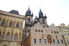 Arquitetura de Praga velha fotografia de stock royalty free