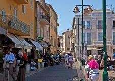 Arquitetura de Saint Tropez da cidade Imagens de Stock