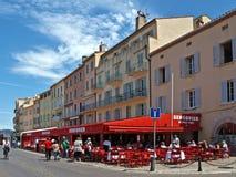 Arquitetura de Saint Tropez da cidade Imagem de Stock Royalty Free