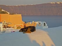 Arquitetura de Santorini Fotografia de Stock