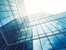 A arquitetura detalha o fundo de vidro de construção moderno do negócio da fachada foto de stock