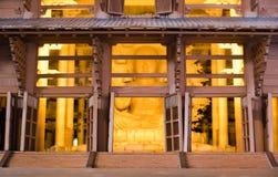 Arquitetura diminuta do templo de Todai-ji foto de stock royalty free