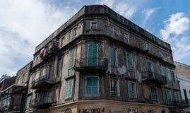 Arquitetura do bairro francês de Nova Orleães Fotografia de Stock