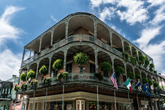 Arquitetura do bairro francês de Nova Orleães Fotos de Stock Royalty Free