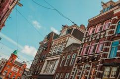 Arquitetura do centro da cidade de Amsterdão fotos de stock